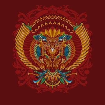 Garuda indonesia, premium vector t-shirt poster