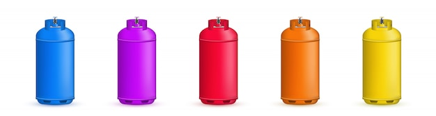 Gas cylinder, tank, balloon, container of propane.