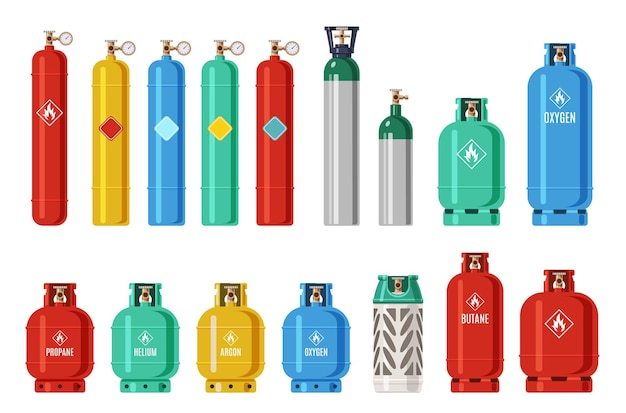 Gas cylinders illustration