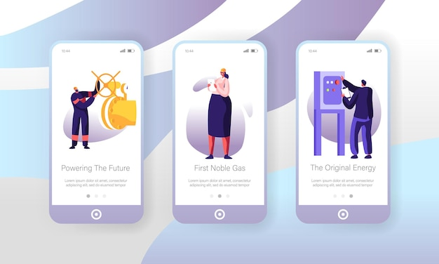 Встроенный экран страницы мобильного приложения для газовой промышленности