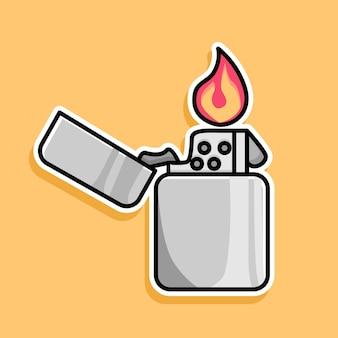 가스 라이터 만화 디자인