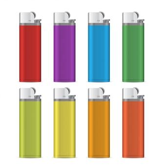 Gas lighter empty mock up set.  illustration