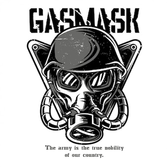 Gas Mask Black and White