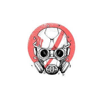 Gas mask helmet illustration