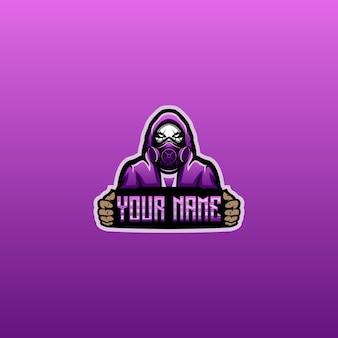 Gas mask logo design