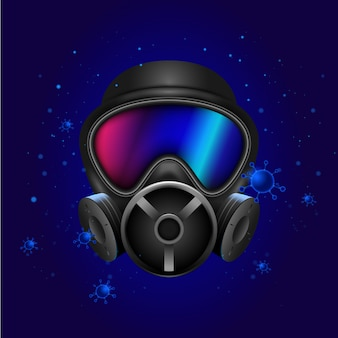 Gas mask medical protection for coronavirus