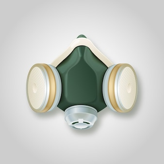 가스 마스크 호흡기 개념