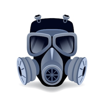 Gas mask respirator illustrated
