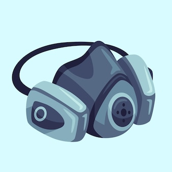 ガスマスク呼吸器の図