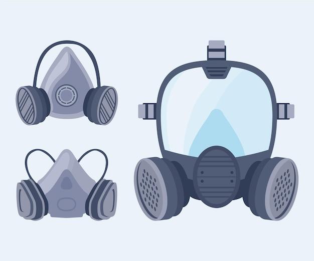 ガスマスク呼吸器