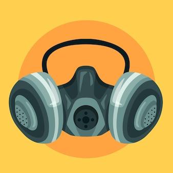 Gas mask respirator Premium Vector