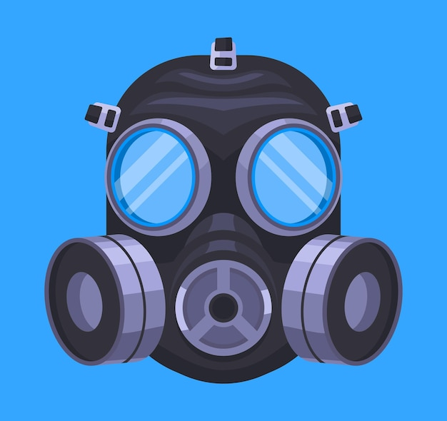 Gas mask respiratory illustrated