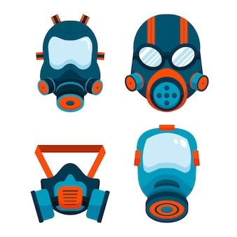 Gas mask respiratory pack