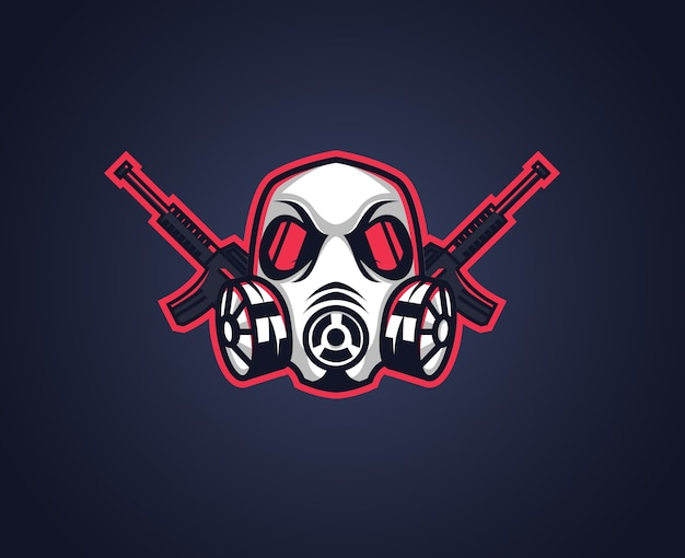 Gas mask sport team logo