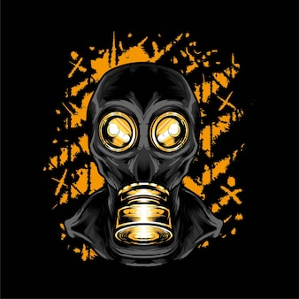 Gas mask vector illustration. suitable for t shirt, print and apparel