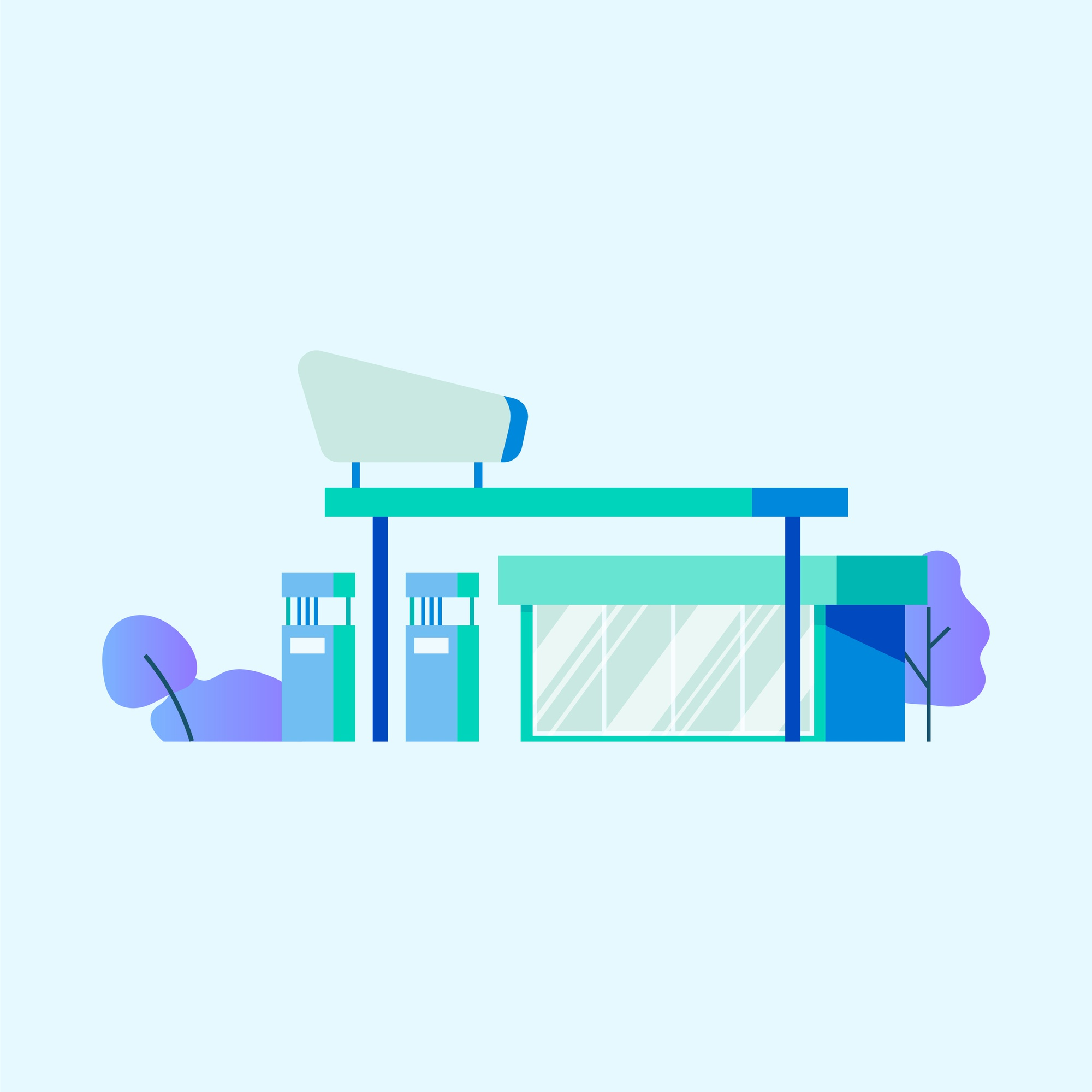 Gas or petrol station vector