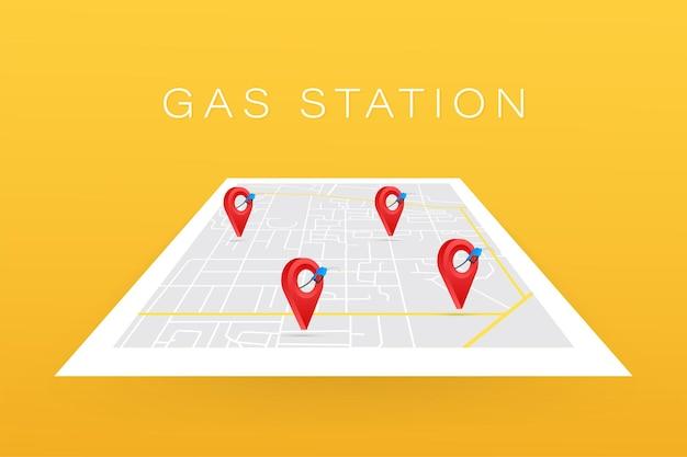 Gas station icon location. fuel pump, fuel station location. Premium Vector