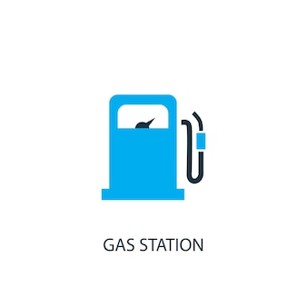 Gas station icon. logo element illustration. gas station symbol design from 2 colored collection. simple gas station concept. can be used in web and mobile.