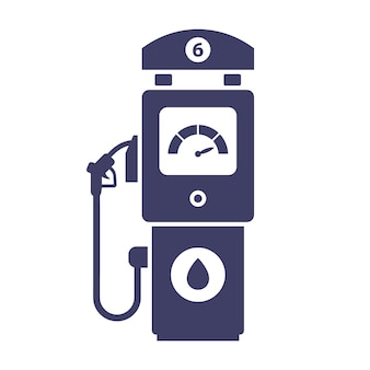 Gas station icon on a white background. buy gas for a car. flat illustration.