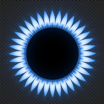 Gas stove flame illustration