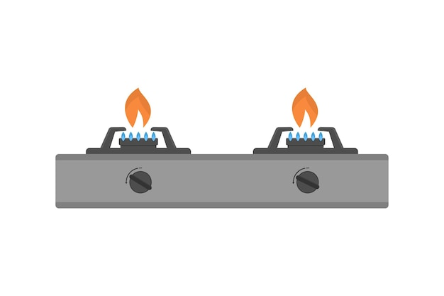 Gas stove vector illustration on white background