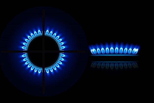 Газ7 с пламенем