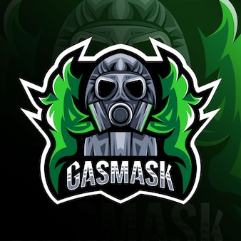 Gasmask mascot logo esport design