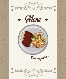 Gastronomy and restaurant menu
