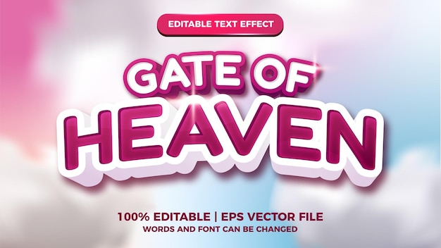 Gate of heaven editable text effect modern style