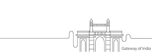 Ворота индии значок, элемент дизайна в стиле структуры