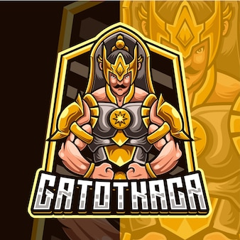 Gatotkaca 마스코트 캐릭터 로고 템플릿