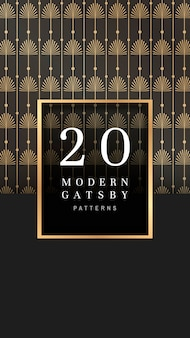 Gatsby patterned banner
