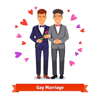 Gay couple marriage and love