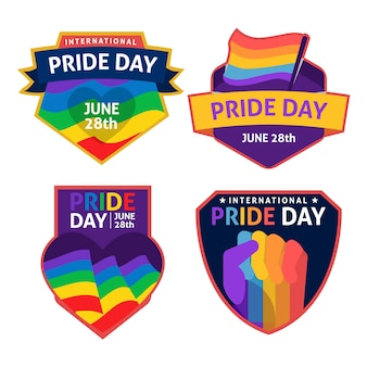 Gay and proud pride day labels