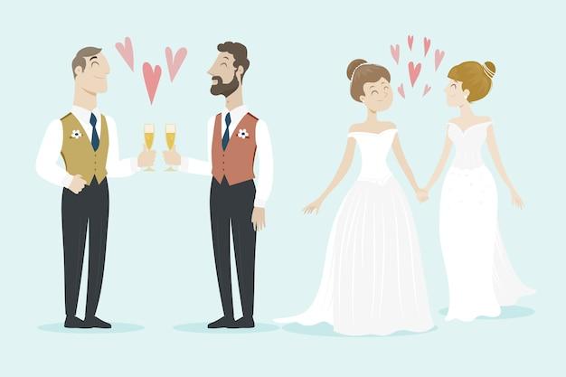 Gay wedding couples