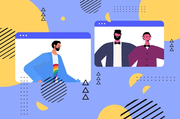 Геи обсуждают во время видеозвонка трансгендеры любят концепцию онлайн-общения лгбт-сообщества