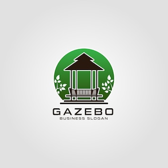 Gazebo  logo template