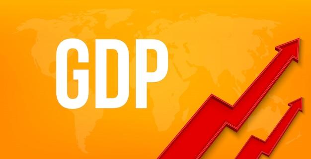 Gdp、国内総生産、金融成長。