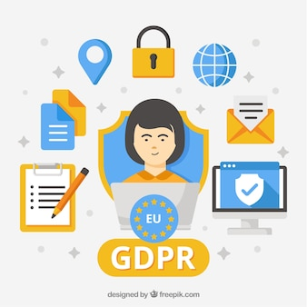GDPR concept with flat design