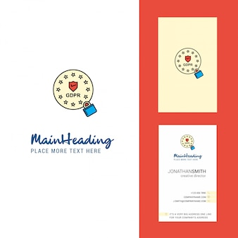 Gdpr creative logo and business card.