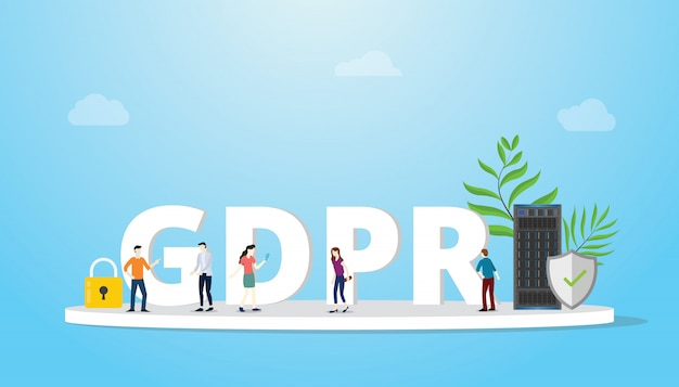 Gdpr general data protection regulation concept