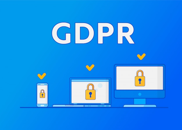 Gdpr general data protection regulation. protection of personal data.