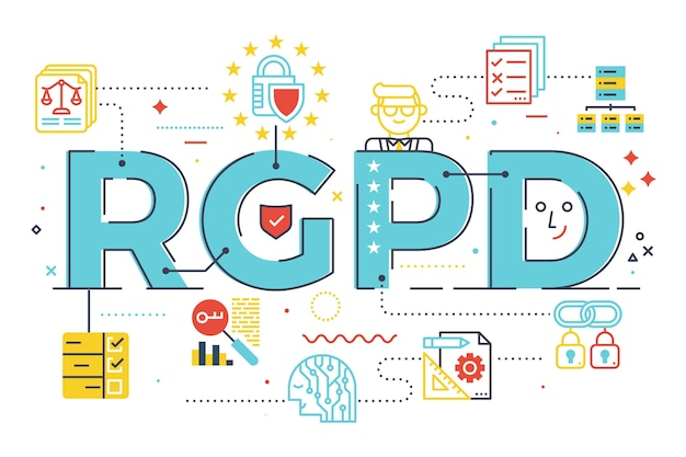Gdpr (general data protection regulation) word in spanish