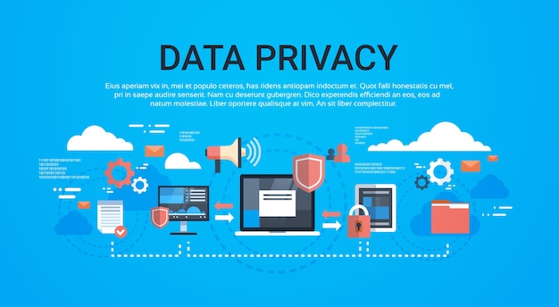 Gdpr isometric infographic data privacy