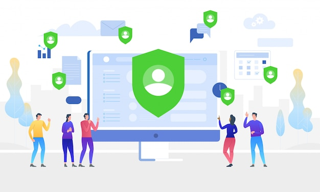 Gdprの概念図。データ保護。一般データ保護規則。
