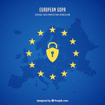新しいヨーロッパのgdprのコンセプト