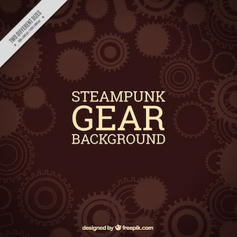 Gear background in brown tones
