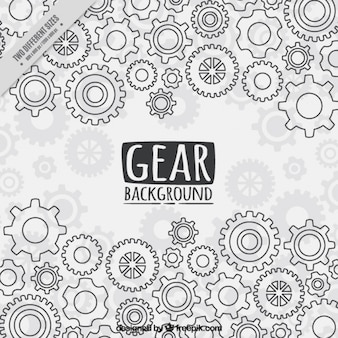 Gear background in flat style