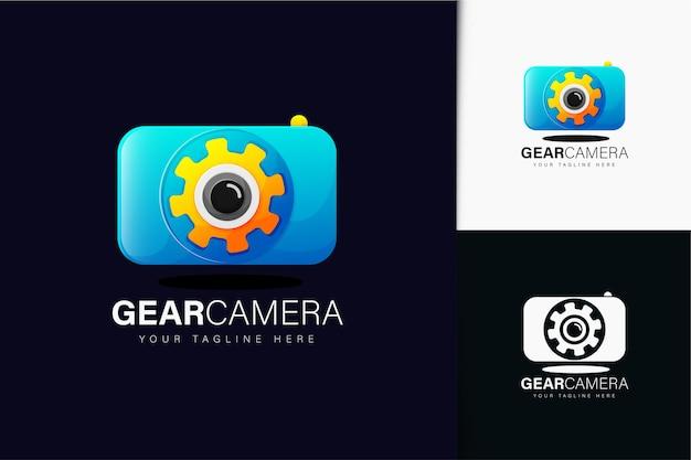 Gear camera logo design with gradient