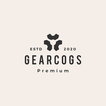 Gear cog cogs хипстерский винтажный логотип